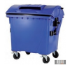 1100 L Műanyag Gömbölyű fedelű Konténer - Szelektív PAPÍR kerti tárolás