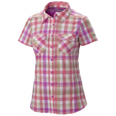 Columbia Saturday Trail III Plaid SS Shirt Ing,blúz D (AK7993m_564-Foxglove)