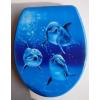 Üveghegy Három delfin WC ülőke