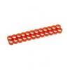 E22 , 24-slot kábelrendezõ piros 4 mm kábelhez