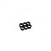 E22 , 6-slot kábelrendezõ fekete 4 mm vastag kábelhez