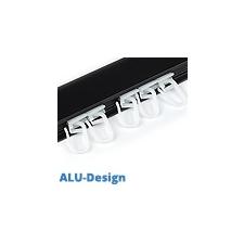 ALU-Design függönyarnis, csúszka akasztóval (10 db) villanyszerelés