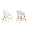 Beliani Étkezoszék - Áttetszo-fehér szék - Kerti szék - BOSTON