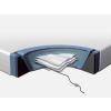 Beliani Vízágy matrac szett 180x200 cm - 2 futés - Habkeret - Huzat