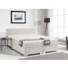 Beliani Boxspring ágy - 180x200 cm - Kárpitozott ágy - Táskarugós matrac - PRESIDENT bézs