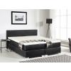 Beliani Boxspring ágy - 180x200 cm - Bor ágy - Táskarugós matrac - PRESIDENT fekete