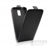utángyártott Flip tok szilikon belsővel, Huawei P8 Lite, fekete tok és táska