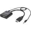 HDMI VGA konverter, audió kivezetésel, Manhattan