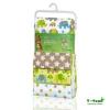 T-tomi Mintás textilpelenka, Zöld elefántok, 4 db