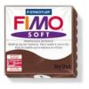 Gyurma, 56 g, égethető, FIMO Soft, csokoládé