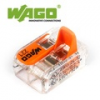 WAGO új karos (csatos) vezeték összekötő, 2 vezeték nyílásos