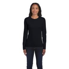GILDAN női h.ujjú Softstyle póló, fekete (Gildan női h.ujjú Softstyle póló, fekete)