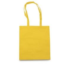 Bevásárlótáska, egyszínű, nemszőtt, sárga