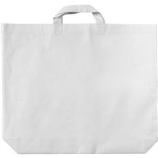 Rövidfülű, széles bevásárlótáska, fehér
