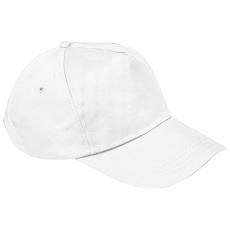 Vászon baseballsapka, fehér (5 paneles baseballsapka pamutból)