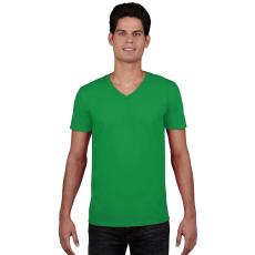 GILDAN V. nyakú férfi póló, írzöld (Gildan V. nyakú férfi póló, írzöld)