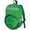 smile hátizsák, zöld (Hátizsák kacsintó arccal az elején, fényvisszaverõ csíkokkal , 23,5 x 11 x 39)