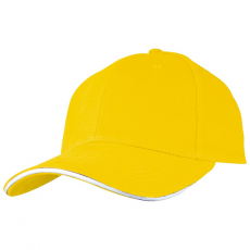 SANDWICH baseballsapka, sárga (SANDWICH 6 paneles vászon baseballsapkaszellõzõnyílásokkal.)