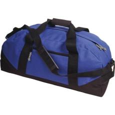 600D poliészter, Sport-, utazótáska, kék (Sport- és utazótáska vállpánttal, cipzáras zsebbel. 600D)