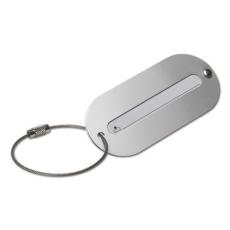 Poggyászazonosító, alumínium (Poggyászazonosító alumínium tábla, fém sodort huzalon.)