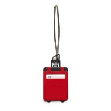 Poggyászazonosító, mûanyag, piros (Poggyászazonosító. Mûanyag.) kézitáska és bőrönd