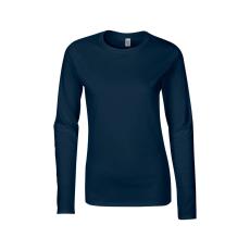 GILDAN női h.ujjú Softstyle póló, sötétkék (Gildan női h.ujjú Softstyle póló, sötétkék)