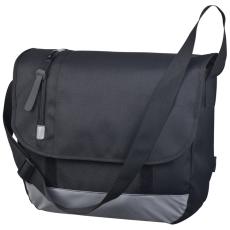 Válltáska, laptop rekesszel, fekete (Nagy válltáska, 1000D poliészterbõl, állítható vállpánttal, és)