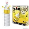 Csiklóizgatós kondom, Luxe Maxima Yellow, 1 db