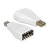 DELOCK adapter mini DisplayPort 1.2 (M) - DisplayPort (F) (fehér)