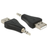 DELOCK Adapter USB-A male > Stereo jack 3.5 mm male 3 pin IPod Shuffle (65560)