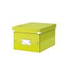 Irattároló doboz, A5, lakkfényű, LEITZ Click&Store, zöld