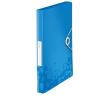 GUMIS mappa, 30 mm, PP, A4, LEITZ Wow Jumbo, kék