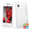 CELLECT LG L70/L65 TPUS szilikon hátlap, Átlátszó-fehér