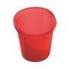 HELIT Szemetes, 13 liter, HELIT Economy, áttetszõ piros