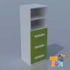 TODI KAMÉLEON FEHÉR-3 fiókos szekrény