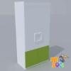 TODI KAMÉLEON FEHÉR-2 ajtós szekrény