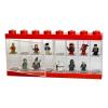 LEGO vitrín 16 minifigurára piros