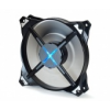 Zalman DF12 dual fan, kék LED,120mm,fek.
