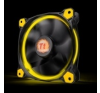 Thermaltake Riing 14, 140mm LED ventilátor - sárga hűtés