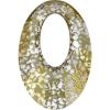 Ragyogj.hu - Swarovski Helios Swarovski medál - vastag vagy vékony nyaklánccal - Gold Patina