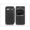 Haffner Samsung SM-J100 Galaxy J1 S-View Flexi oldalra nyíló flipes tok - fekete