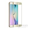 utángyártott Samsung G925 Galaxy S6 Edge tempered glass üvegfólia (teljes kijelzős-hajlított), arany