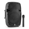 Skytec SPJ-PA910, 400 W, aktív PA hangfal, akkumulátor, bluetooth, USB, SD, MP3, VHF