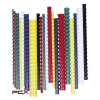 FELLOWES Spirál, mûanyag, 10 mm, 41-55 lap, FELLOWES, 100 db, fekete