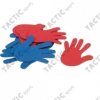 Tactic Sport padlójelölő szett kéz forma csúszásgátló gumiból 14,5x14,5 cm, 6 eltérő szín, 6 kézpár