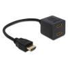 DELOCK adapter  HDMI (M) 1.4  -> 2x HDMI (F) 1.4