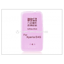 Sony Sony Xperia E4G (E2003) szilikon hátlap - Ultra Slim 0,3 mm - pink tok és táska