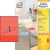 Avery 210 x 297mm piros univerzális címke / Avery 3470