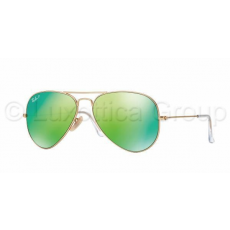 Ray-Ban RB3025 112/P9 AVIATOR MATTE GOLD GREEN MIRROR POLAR napszemüveg (RB3025__112_P9)