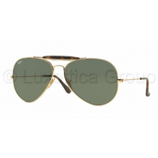 Ray-Ban RB3029 181 OUTDOORSMAN II GOLD DARK GREEN napszemüveg (RB3029__181)